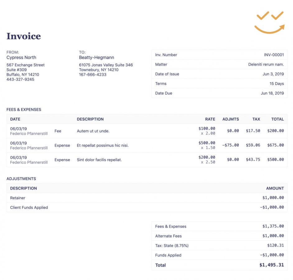 Browse Our Image Of Law Firm Invoice Template Receipt Template Invoice Template Bookkeeping Software