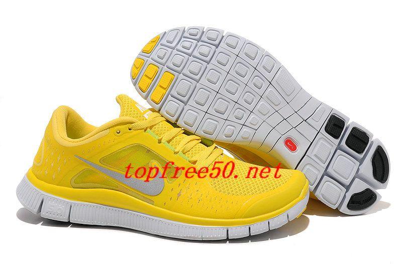 a7e8a2bd77a2a 7W7f7O Chrome Yellow Reflective Silver Platinum Nike Free Run 3 Men s  Running Shoes