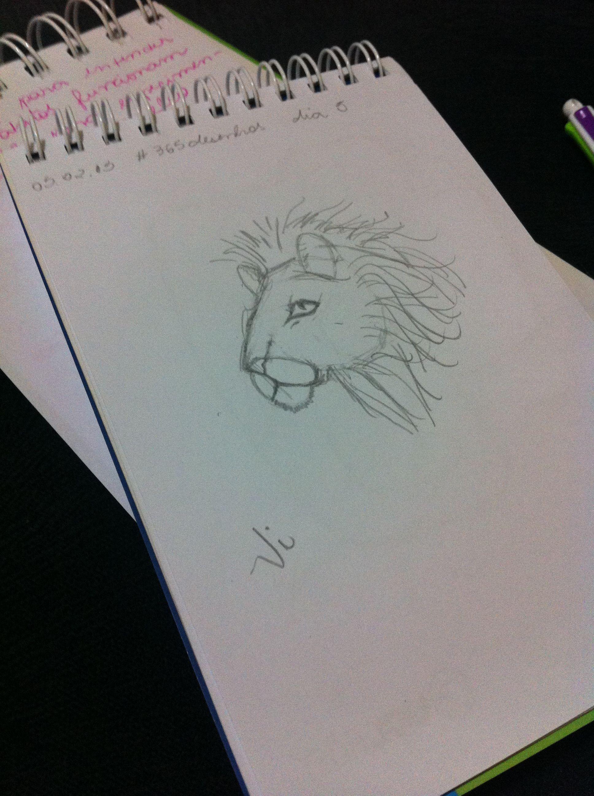 Desenho 5 de 365: Treinando com alguns guias de desenho.