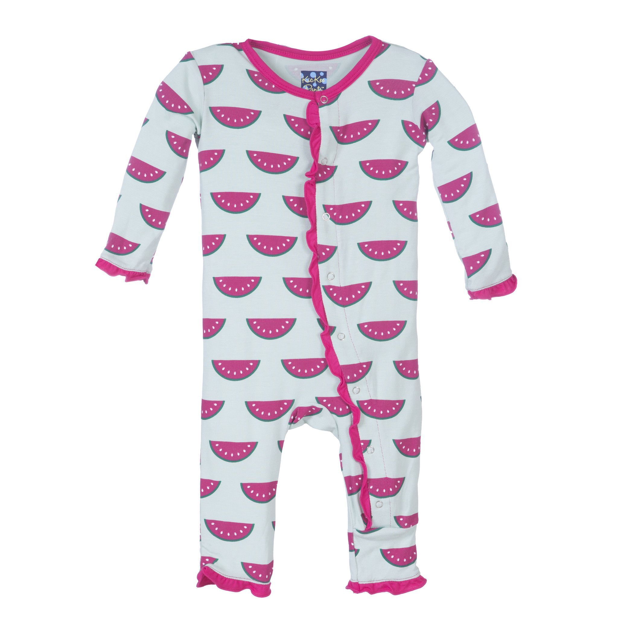 Kickee Pants Muffin Ruffle Coverall Watermelon