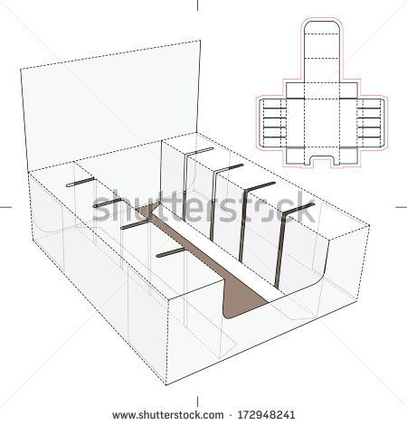 Product Display and Advertisement Cardboard Stand with Blueprint - new blueprint coffee watson