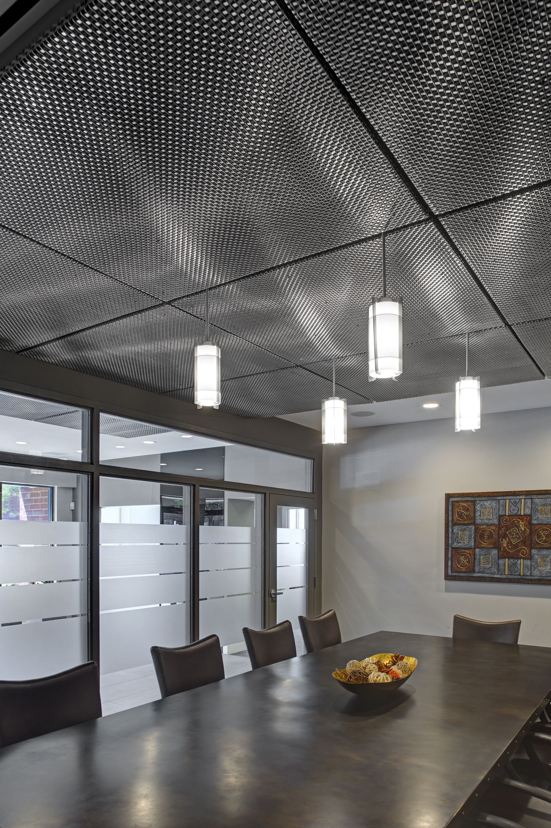 Mesh Ceiling Panels Google Search Dropped Ceiling Ceiling Panels Basement Ceiling