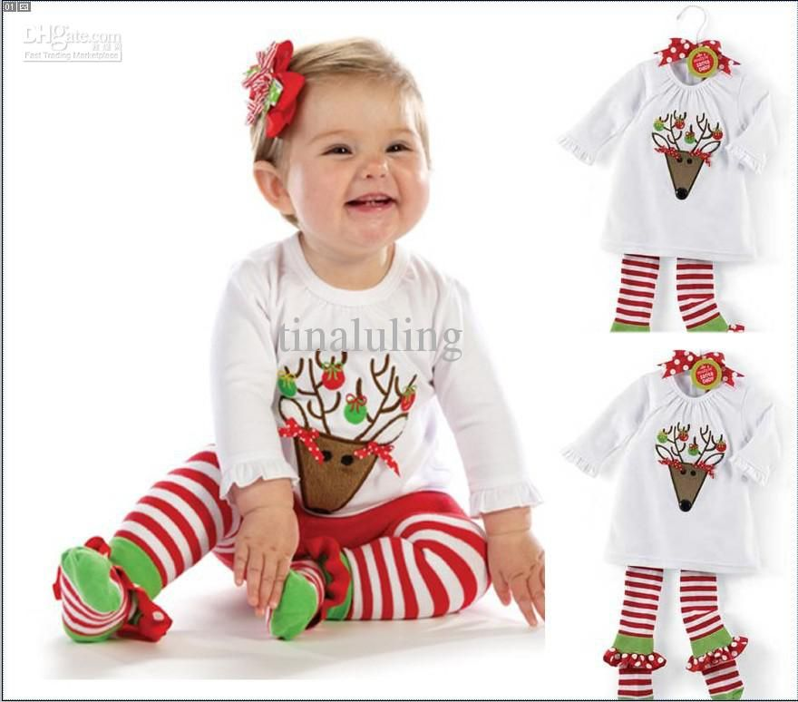 1faaed1789b93 2019 2013 Merry Christmas Fashion Baby Girls Clothing Suits ...