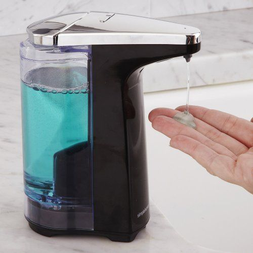 Simplehuman Compact Sensor Pump With Sample Soap 8 Ounce Bath
