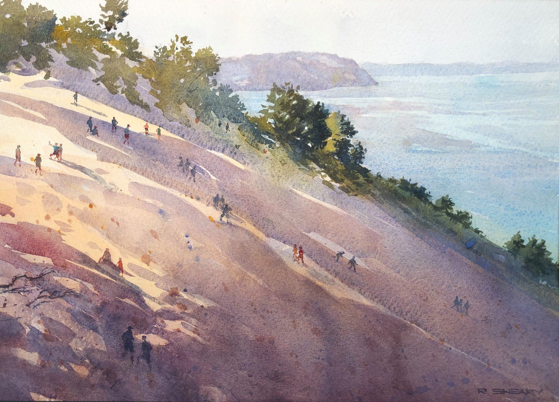 Pin On Watercolor Landscapes With Structures Figures