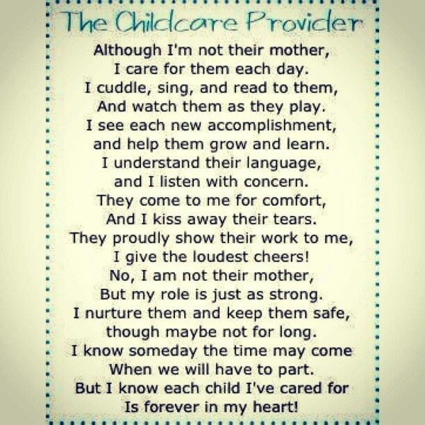 Child Care Provider Poem Absolutely Perfect Nanny Thank You Poems For Teachers Teacher Poems Family Day Care