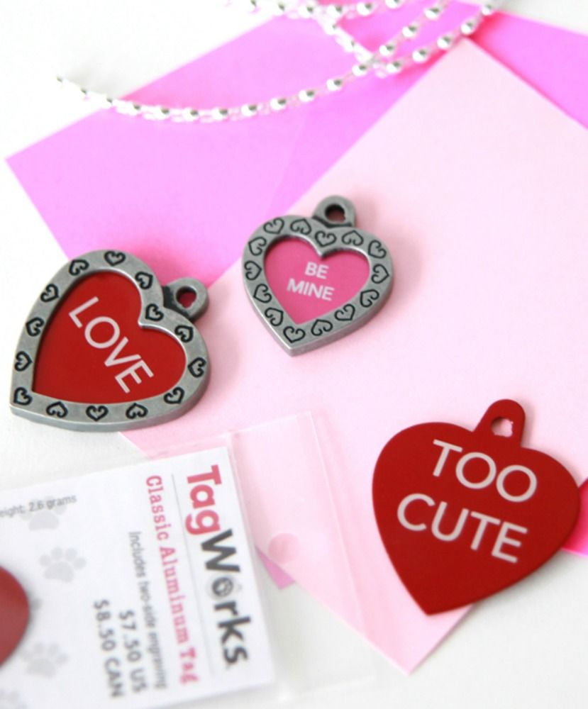 Inexpensive Dog Tag Gift For Valentine S Day Recipe Crafts