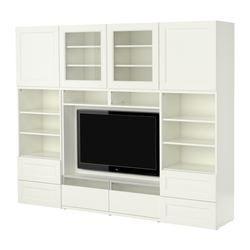 "BESTÅ TV/storage combination, white Width: 94 1/2 "" Depth: 15 3/4 "" Height: 75 5/8 "" Width: 240 cm Depth: 40 cm Height: 192 cm"