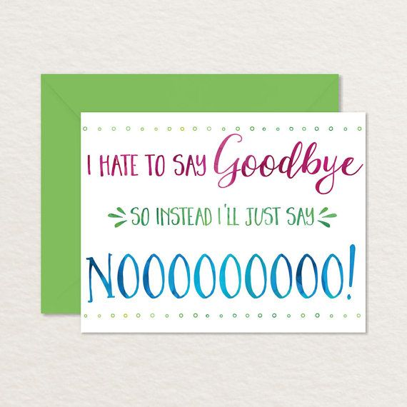 Printable Goodbye Card Funny Goodbye Card Printable Farewell