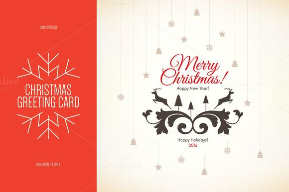 Christmas And New Year Greeting Card By Restaurant Menu