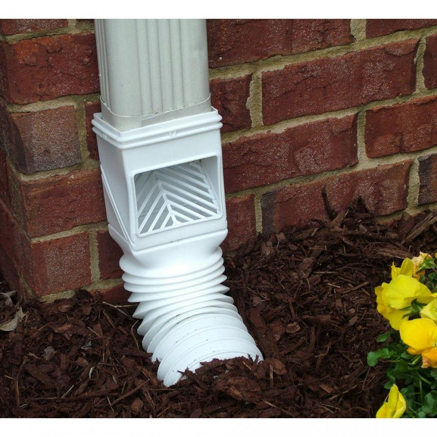 Underground Downspout Drain Clogged Drainage Solutions Decorative Extensions Over Walkway Ideas Down Spout Gutter Drainage Backyard Drainage Landscape Drainage