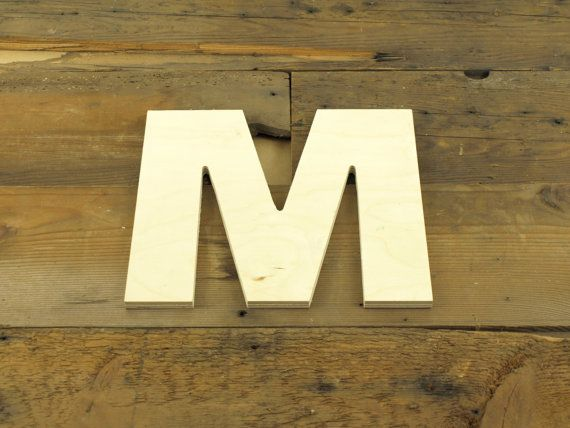 Unfinished 10 Inch Wooden Letter Arial Bold By Lettercraftpdx