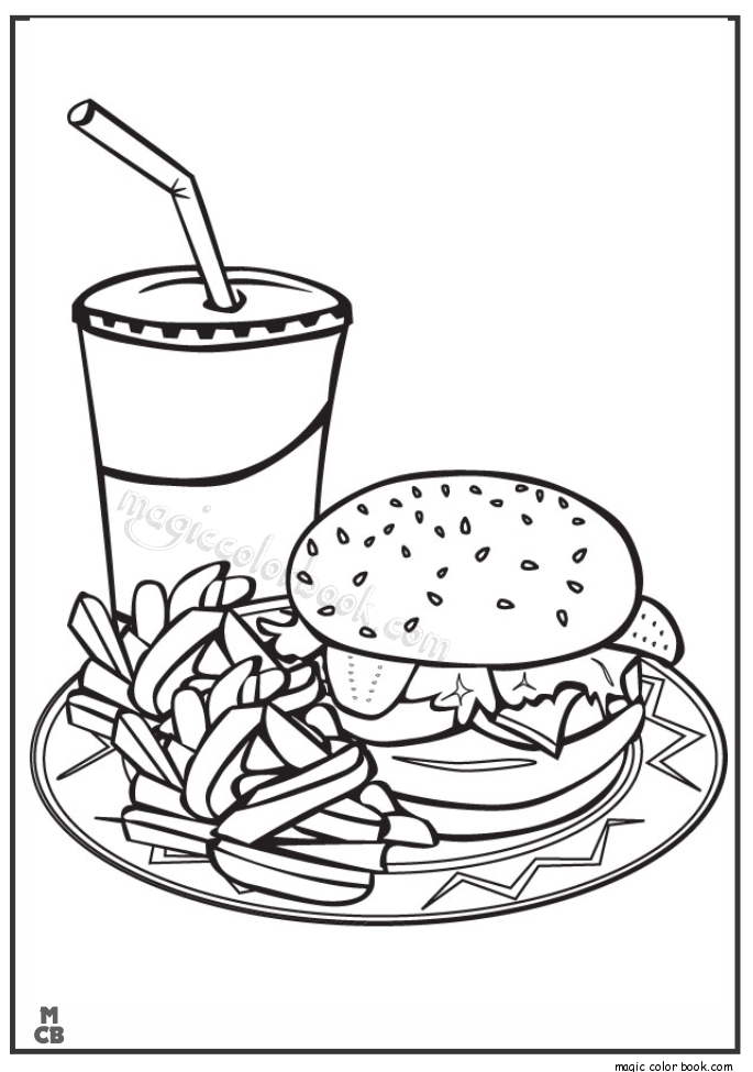 Pin By Wee On Colours Food Coloring Pages Sketch Pagesrhpinterest: Coloring Pages Fast Food At Baymontmadison.com
