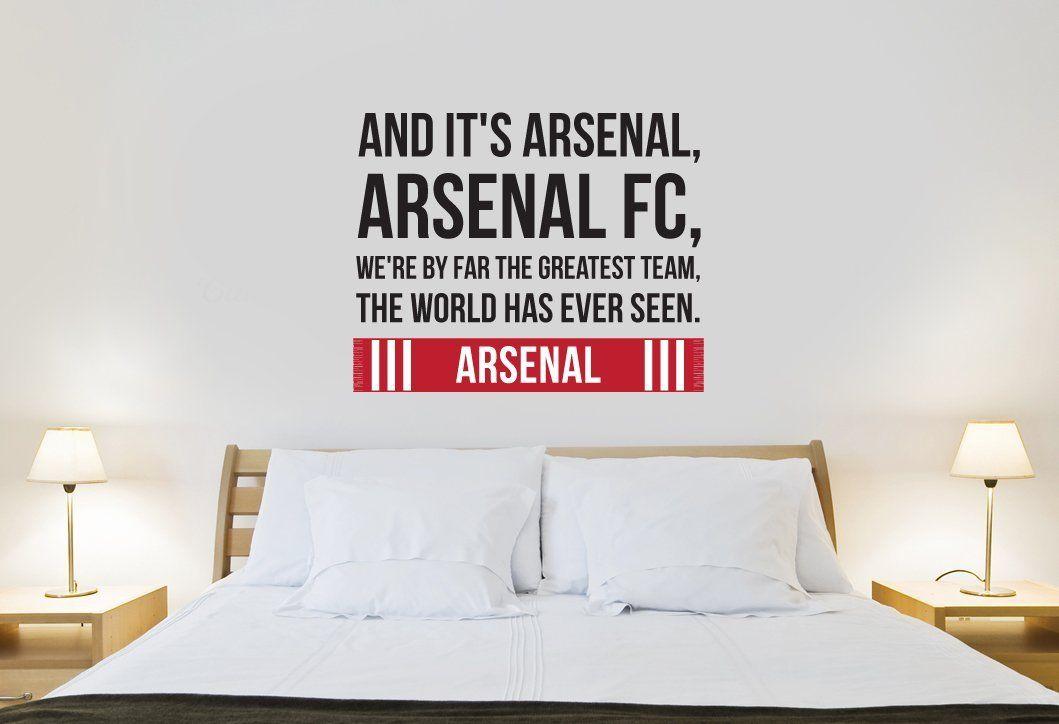 Arsenal World Greatest Team Song Design Wall Sticker Medium