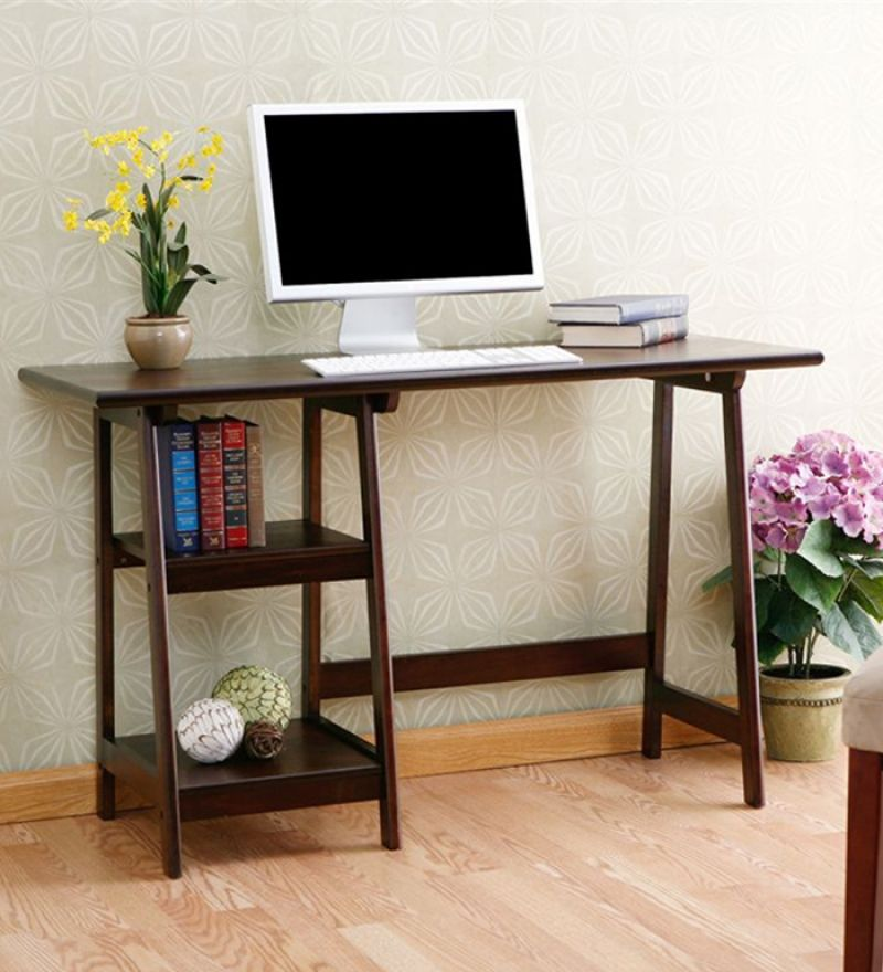 Computer Table Basic Style Timber Furniture Home Decor Home