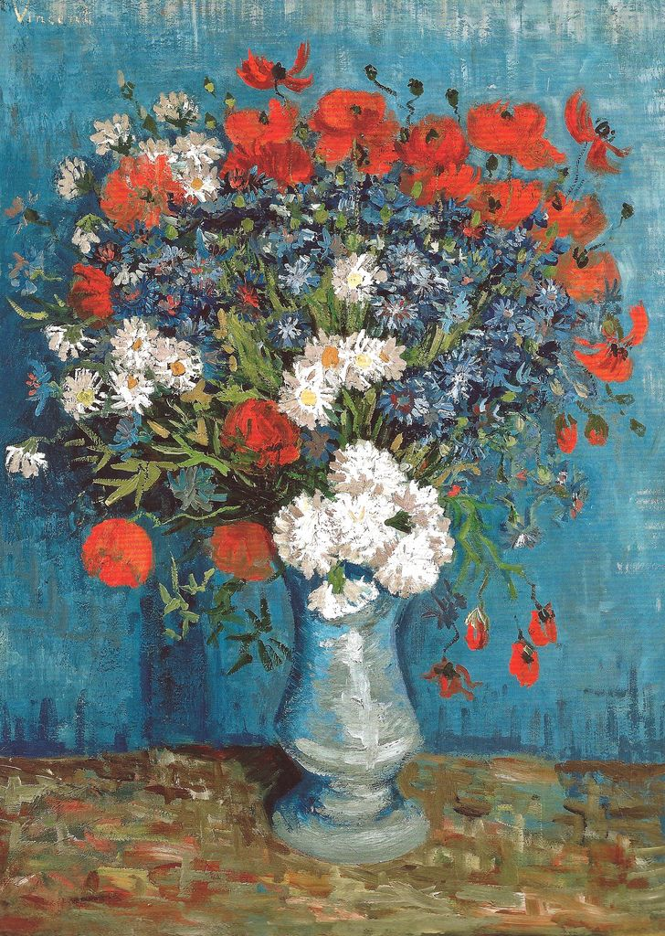 Vincent Van Gogh Vase With Cornflowers And Poppies 1887 Triton