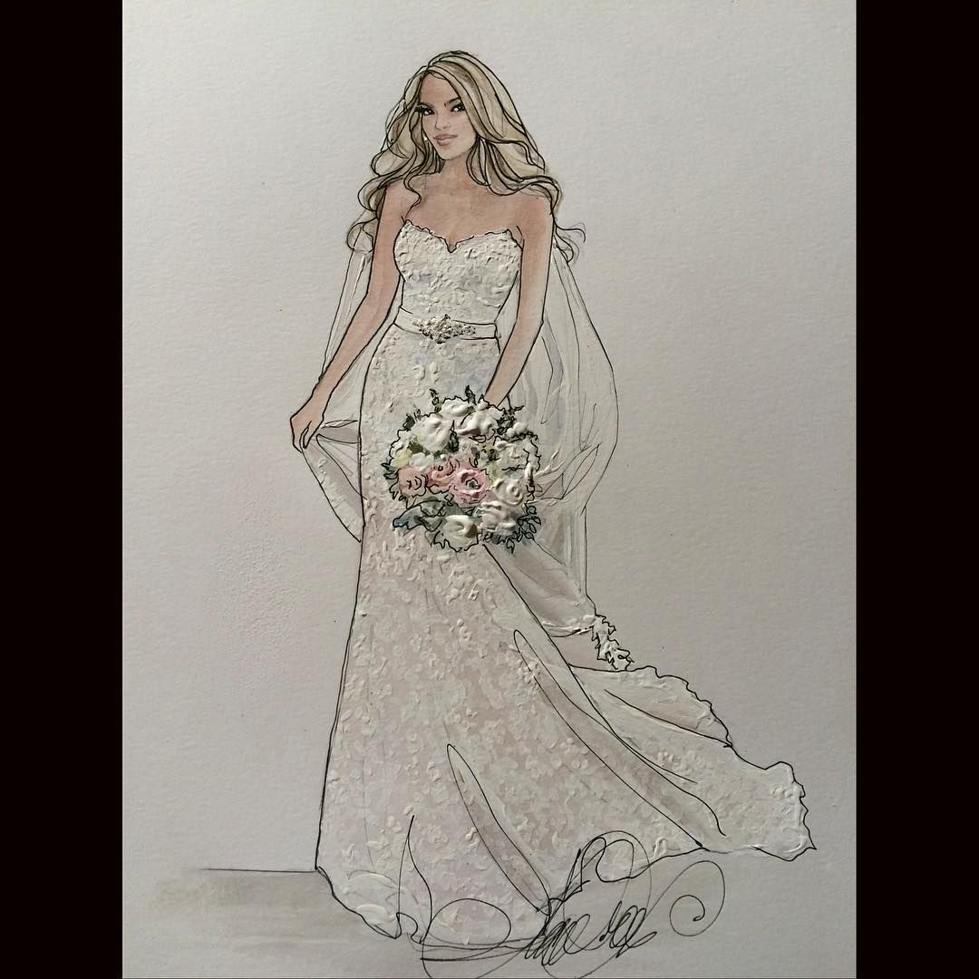 Dawna- #realbride #symphonybridal #symphonybridalnyc #symphonybridalgowns #bridalillustration For Illustration enquiry- please contact- karenorrillustration@gmail.com