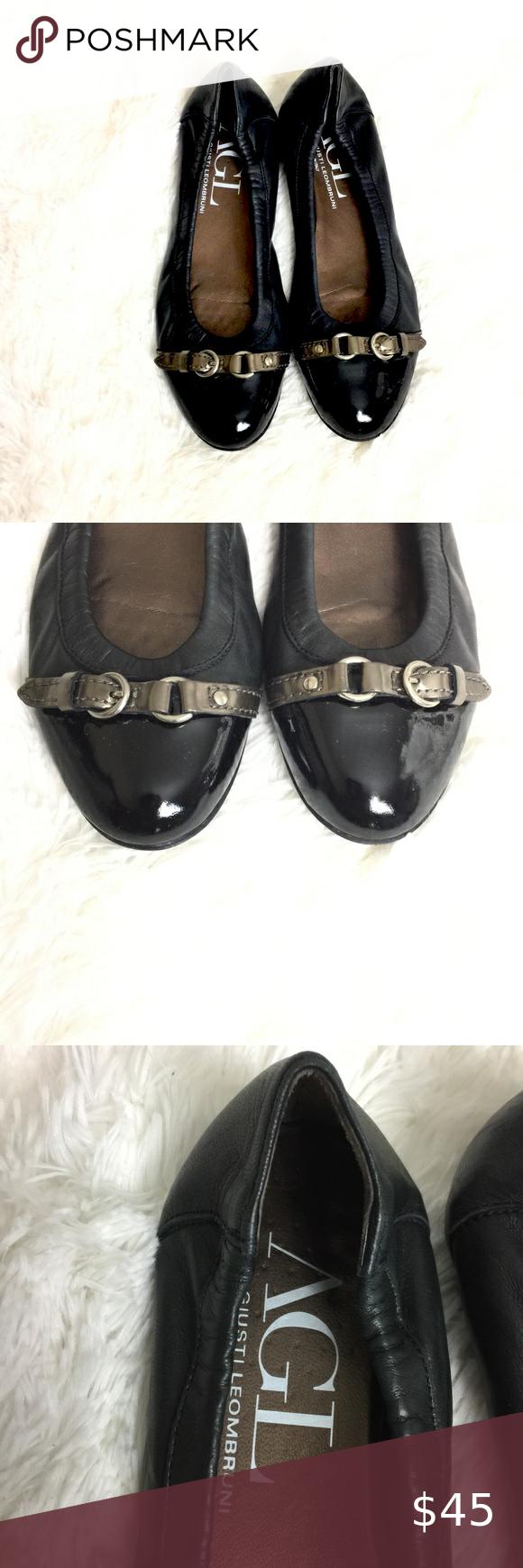 Attilio Giusti Leombruni Shoes   Cap Toe Chain Ballet Flat