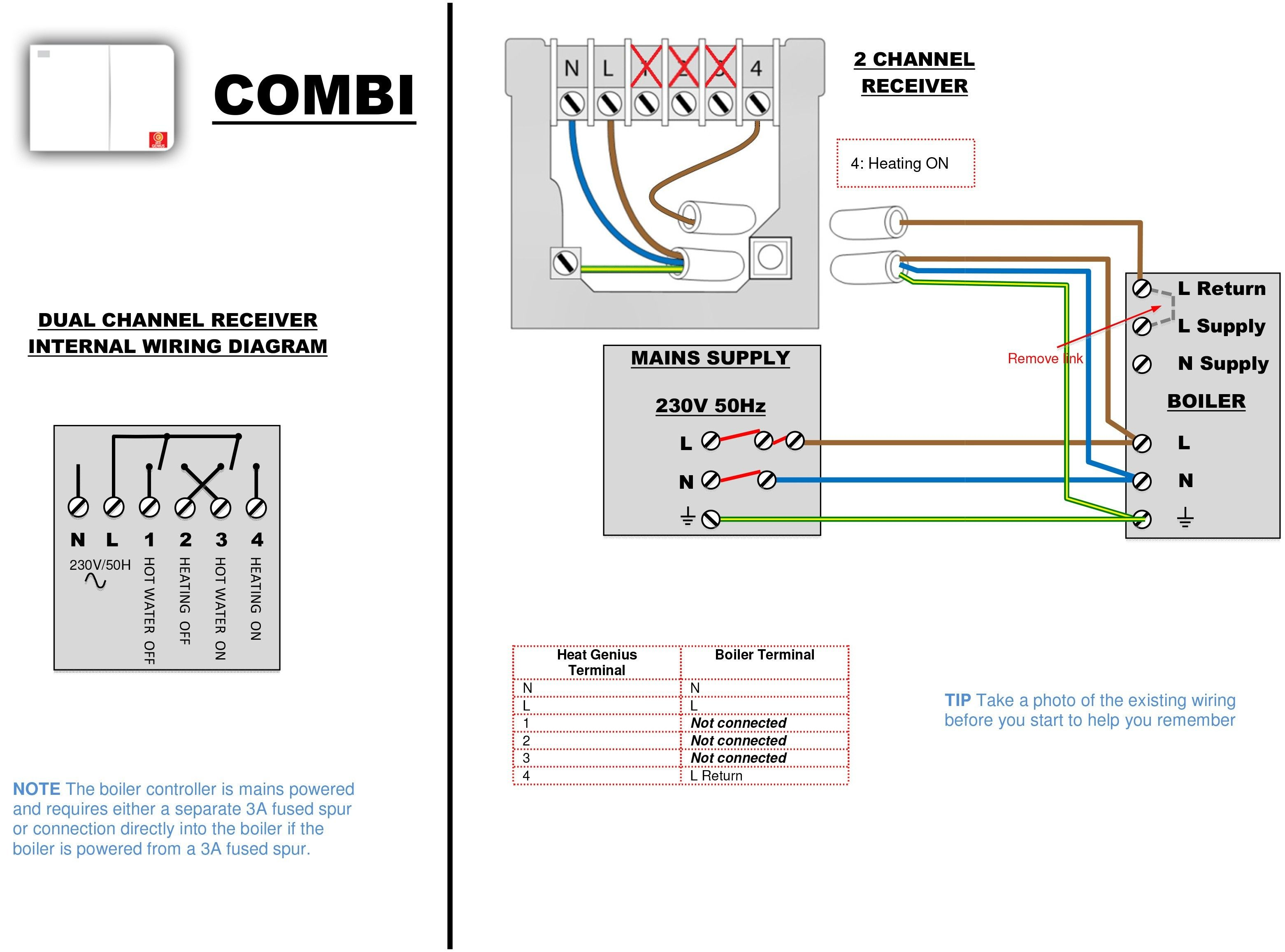 Unique Combi Boiler Programmer Wiring Diagram (con