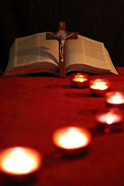 양초, 리드, 경로, 크로스, 십자가, 성경, 빛, 빛나는, 유리, 축하, 창문, 건축물, 종교