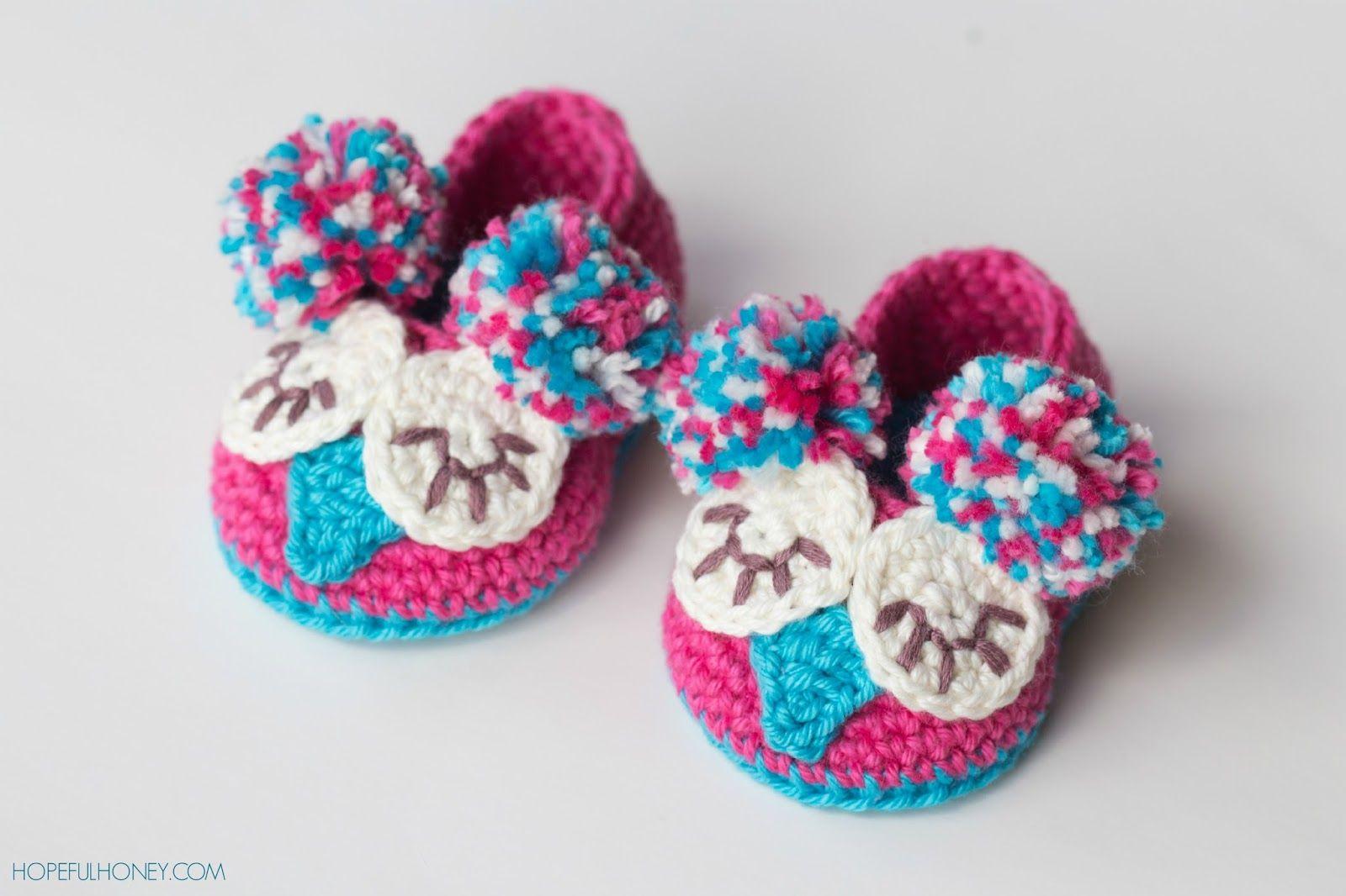 Owl Baby Booties - Free Crochet Pattern. ...shared by Vivikene ...