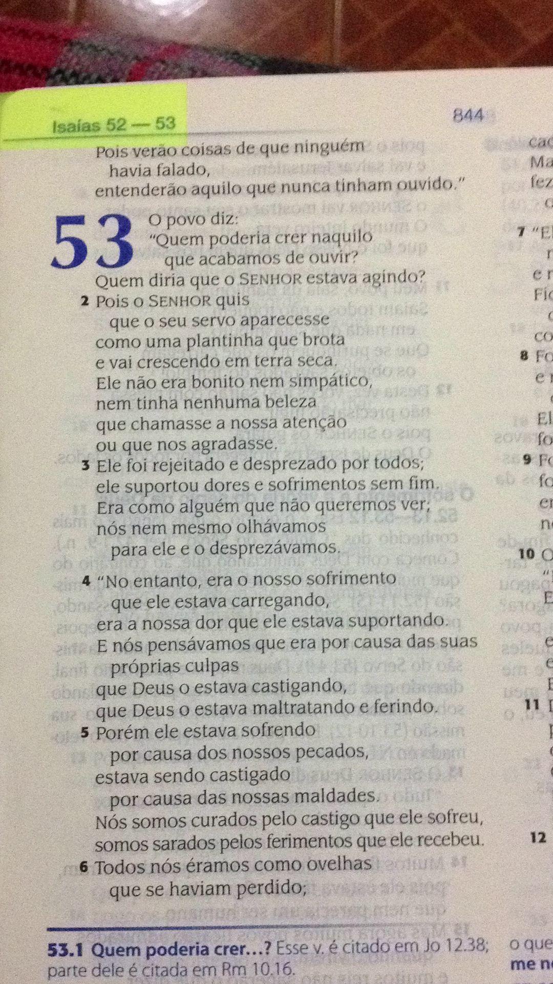 Nova Traducao Da Linguagem De Hoje Isaias 53 1 O Povo Diz Quem