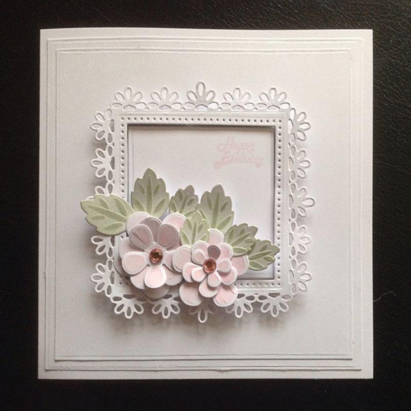 New Design Craft Metal Cutting Die Cut Dies Flower Heart Frame Decoration Scrapb