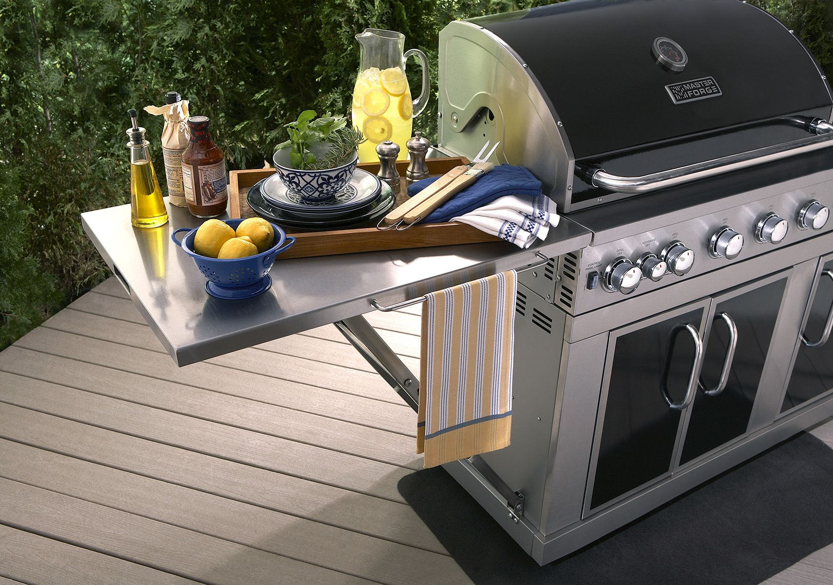 this master forge 5 burner grill is a summer must have savor