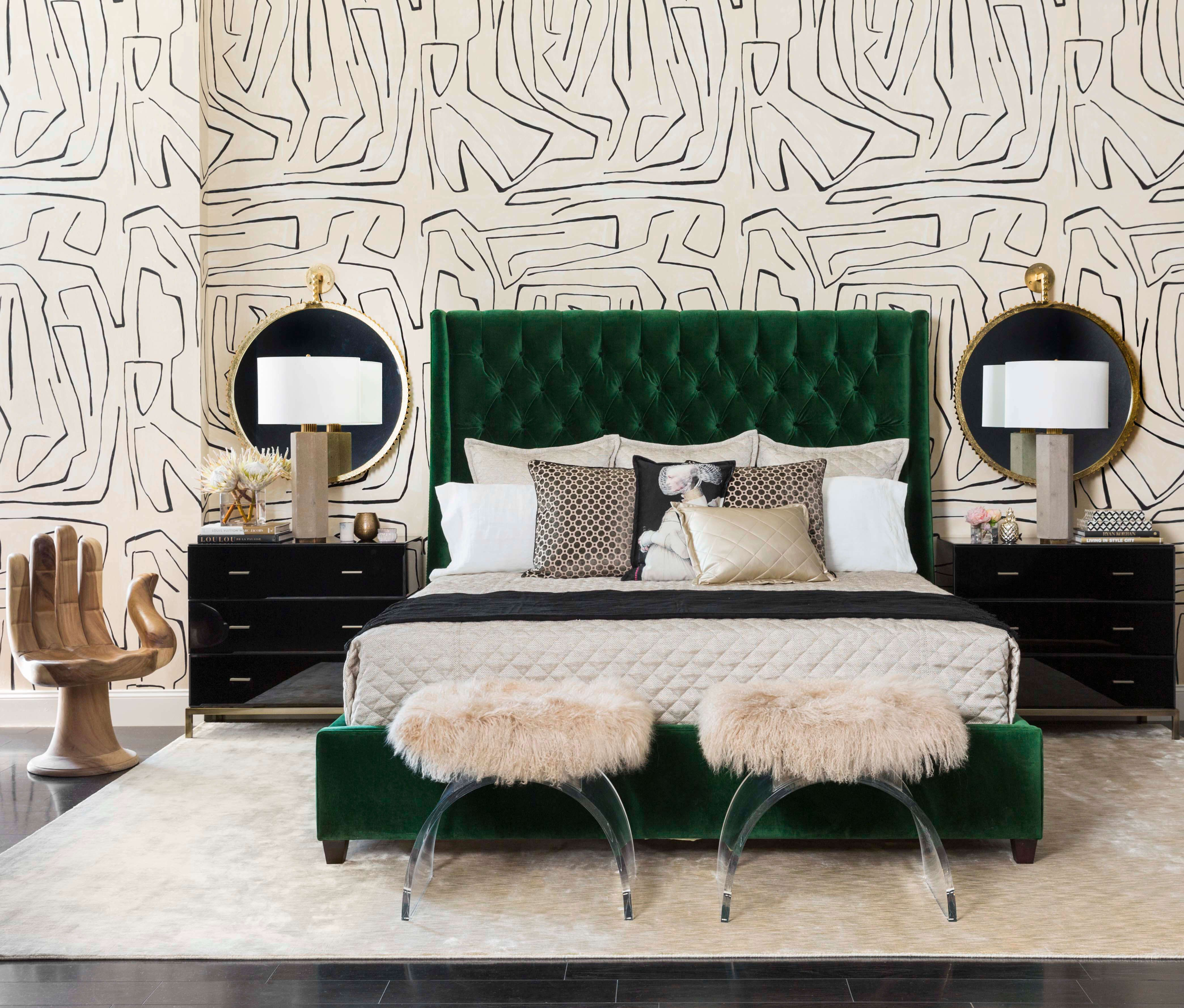 Love This Emerald Green Button-tufted Upholstered Bed