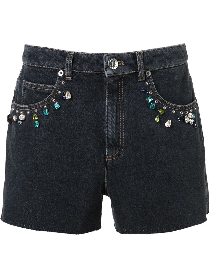 Sonia Rykiel embellished denim shorts