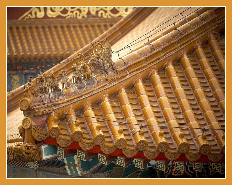 Roof in forbidden city - Beijing