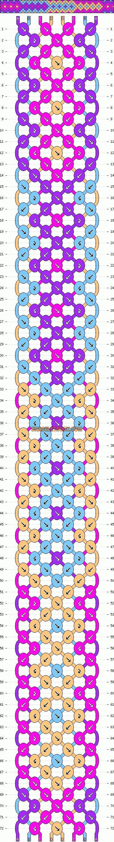 Grant Arrowhead Pattern For Friendship Bracelets