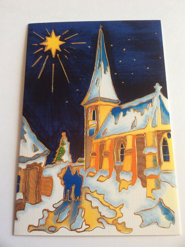 Mouth And Foot Painting Artists Christmas Card No 813 Night Before Tom Yendell Mouthandfoot Christmas In 2020 Mouth And Foot Painting Christmas Cards Artist Painting
