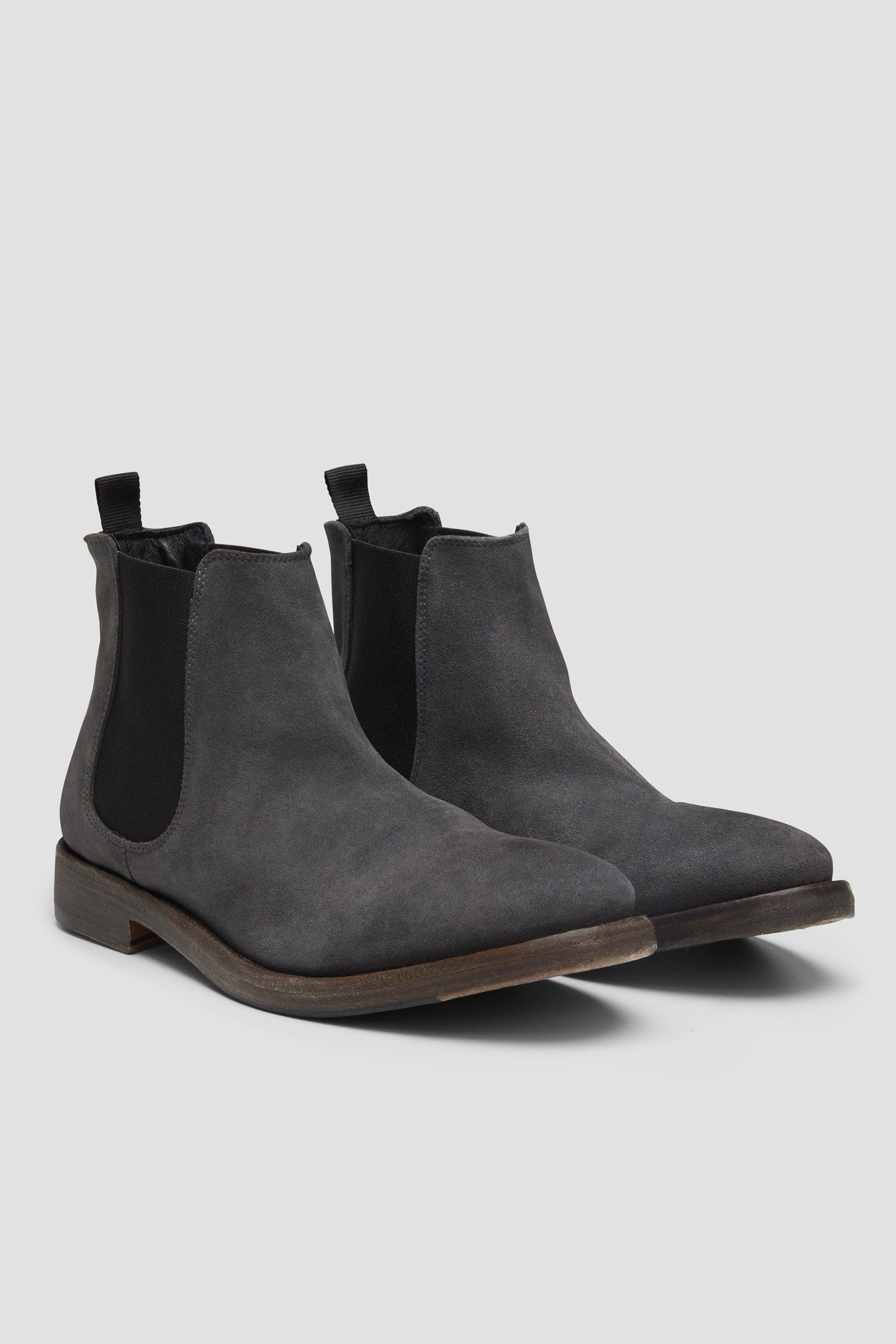 mens charcoal chelsea boots