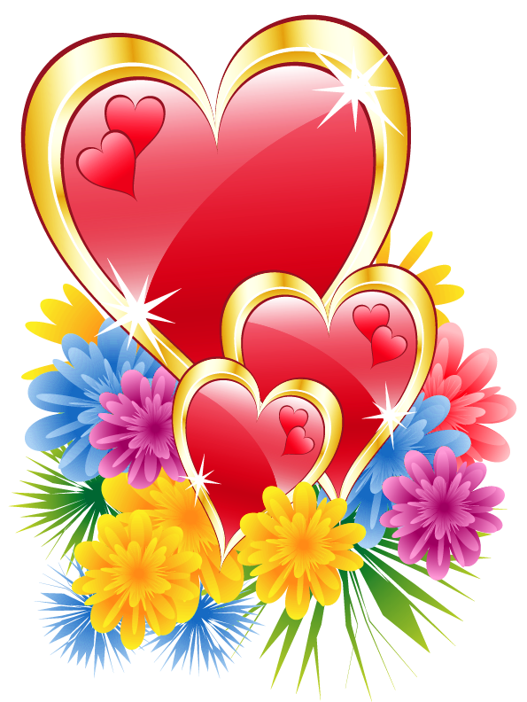 valentine hearts with flowers png clipart picture hearts hearts rh pinterest com Butterfly Clip Art Butterfly Clip Art