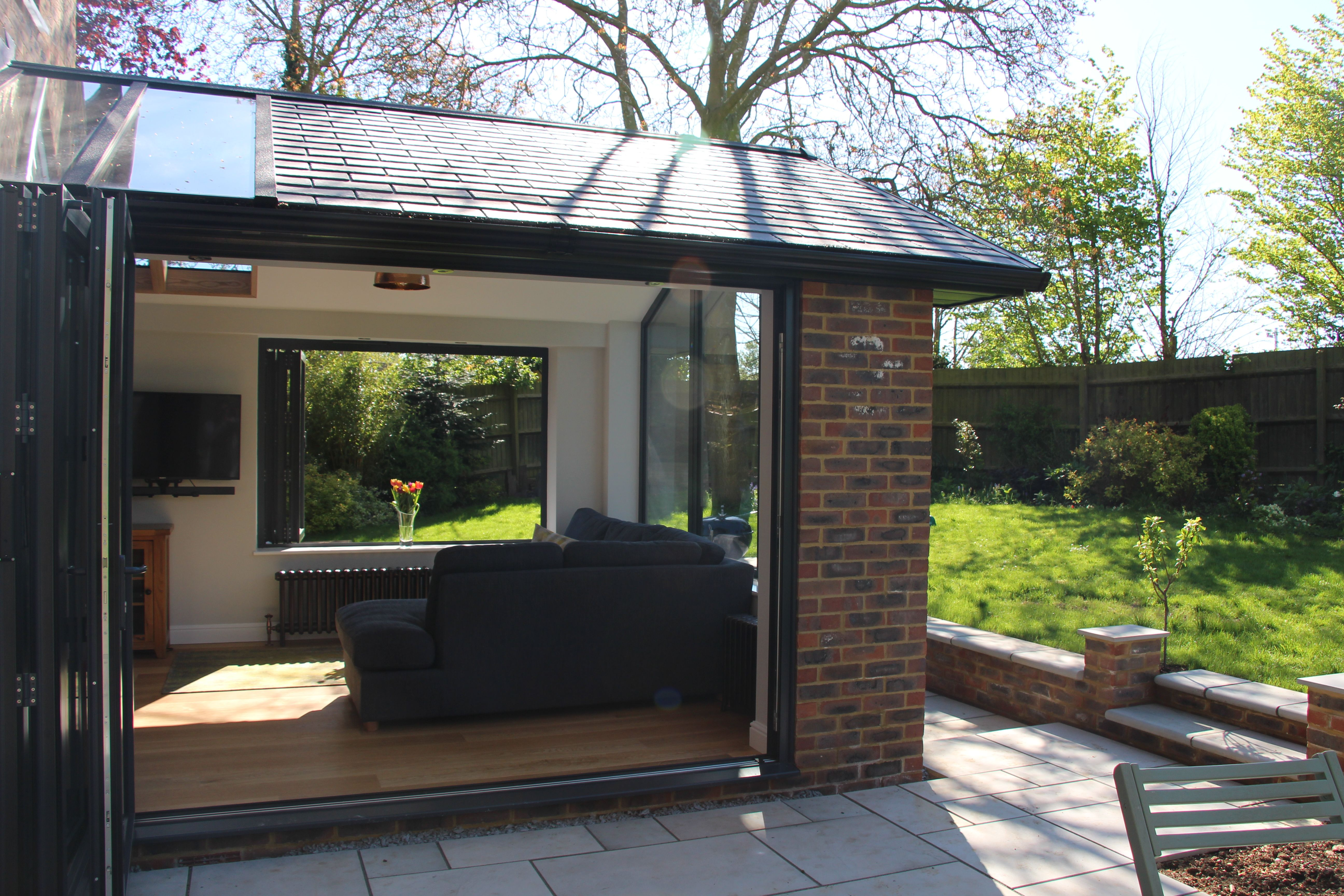 Extend Your Home With A Beautiful Garden Room We Used Bi Fold Windows And Doors To Allow T House Extension Design Room Extensions Kitchen Extension Open Plan