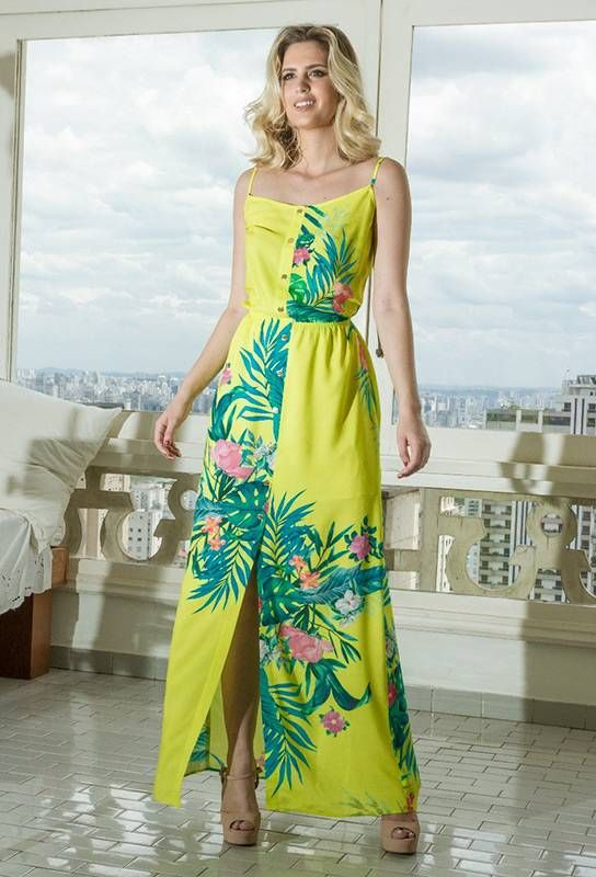 Vestido Longo Vila Flor