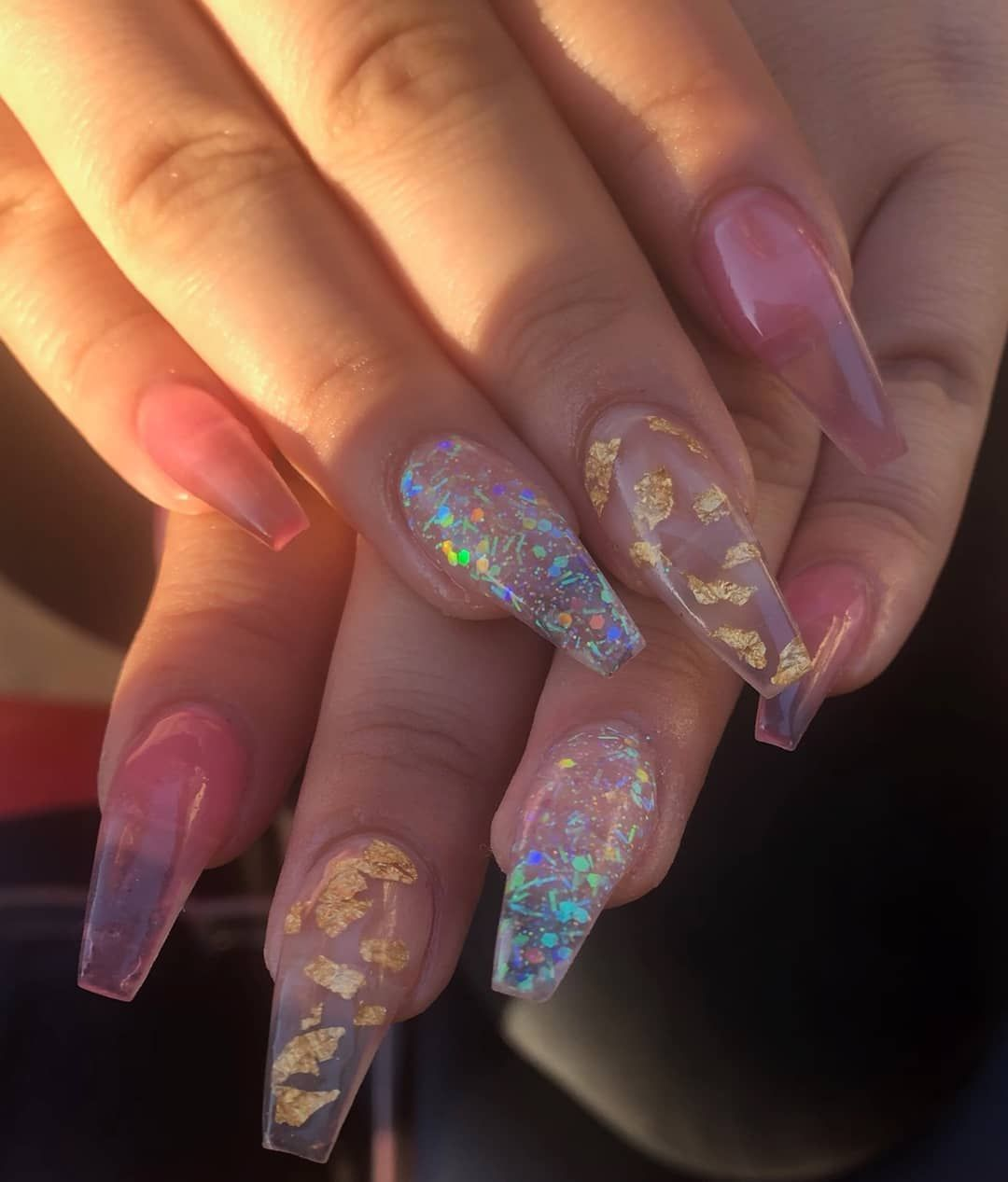 Skinny Coffin Coffinnails Longnails Brightnails Coloracrylic Acrylicnails Glamandglits Jelly Nails Gorgeous Nails Encapsulated Nails