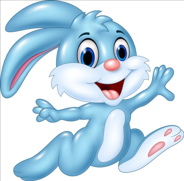 Cute Cartoon Rabbit Design Vector 01 Bunny Images Cartoon Clip Art Rabbit Cartoon