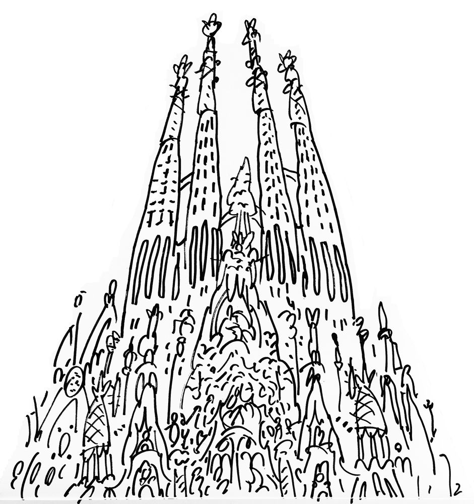 Dibujar ciudades | Draw | Pinterest | Dibujar, Ciudad y Sagrada familia