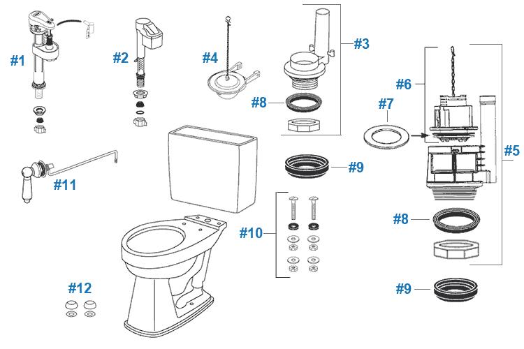 Toto Promenade Toilet Replacement Parts Replace Toilet Toilet Repair Toto