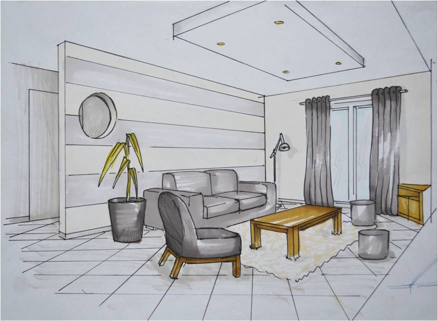 Dessin Architecture Interieur