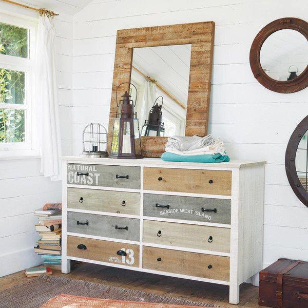 commode en bois blanche l 140 cm noirmoutier commodes et bois. Black Bedroom Furniture Sets. Home Design Ideas
