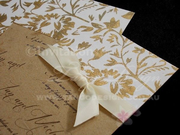Flower girl wedding invitation by tangodesign brown quality wedding invitations at an affordable price australias most awarded invitation maker stopboris Gallery