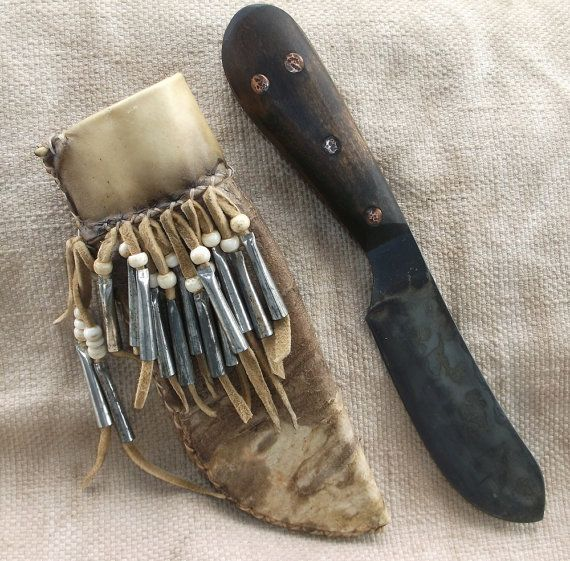 Primitive Nessmuk Mountain Man knife in decorated by