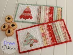 @ Threadbare Creations - Free Pattern: Christmas Mug Rugs