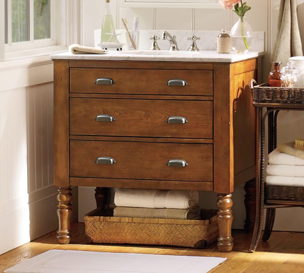 Pottery Barn Powder Room Vanity: Combination Mudroom And Powder Room