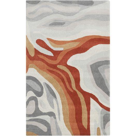Allmodern For Surya Pigments Burnt Orange Gray Area Rug Area Rugs Rugs Rugs On Carpet