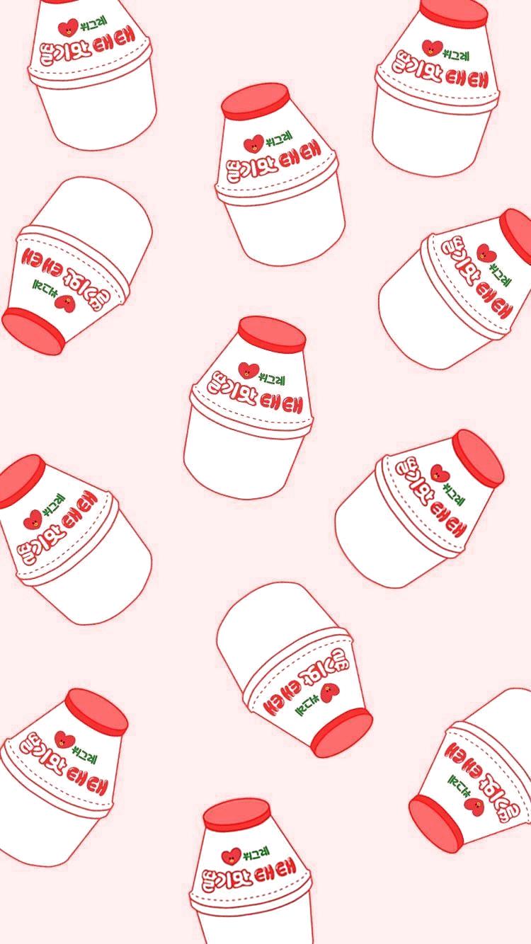 Korean Yogurt Wallpaper 779545016739169280 Korea Wallpaper Kawaii Wallpaper Cute Patterns Wallpaper