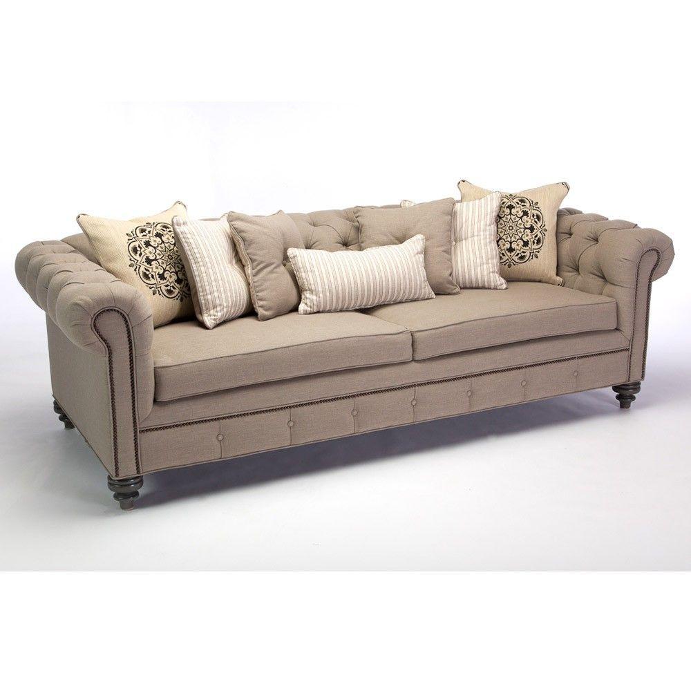 JAR Designs \'Alphonse Tufted\' Sofa, Grey (Fabric)